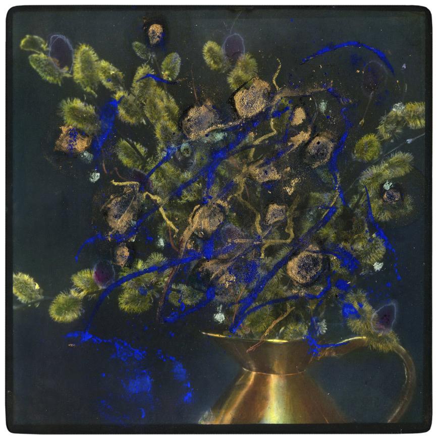 Koperen katjeskan met blauw